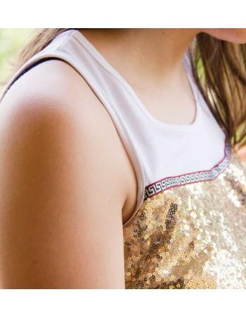 maglia strass oro